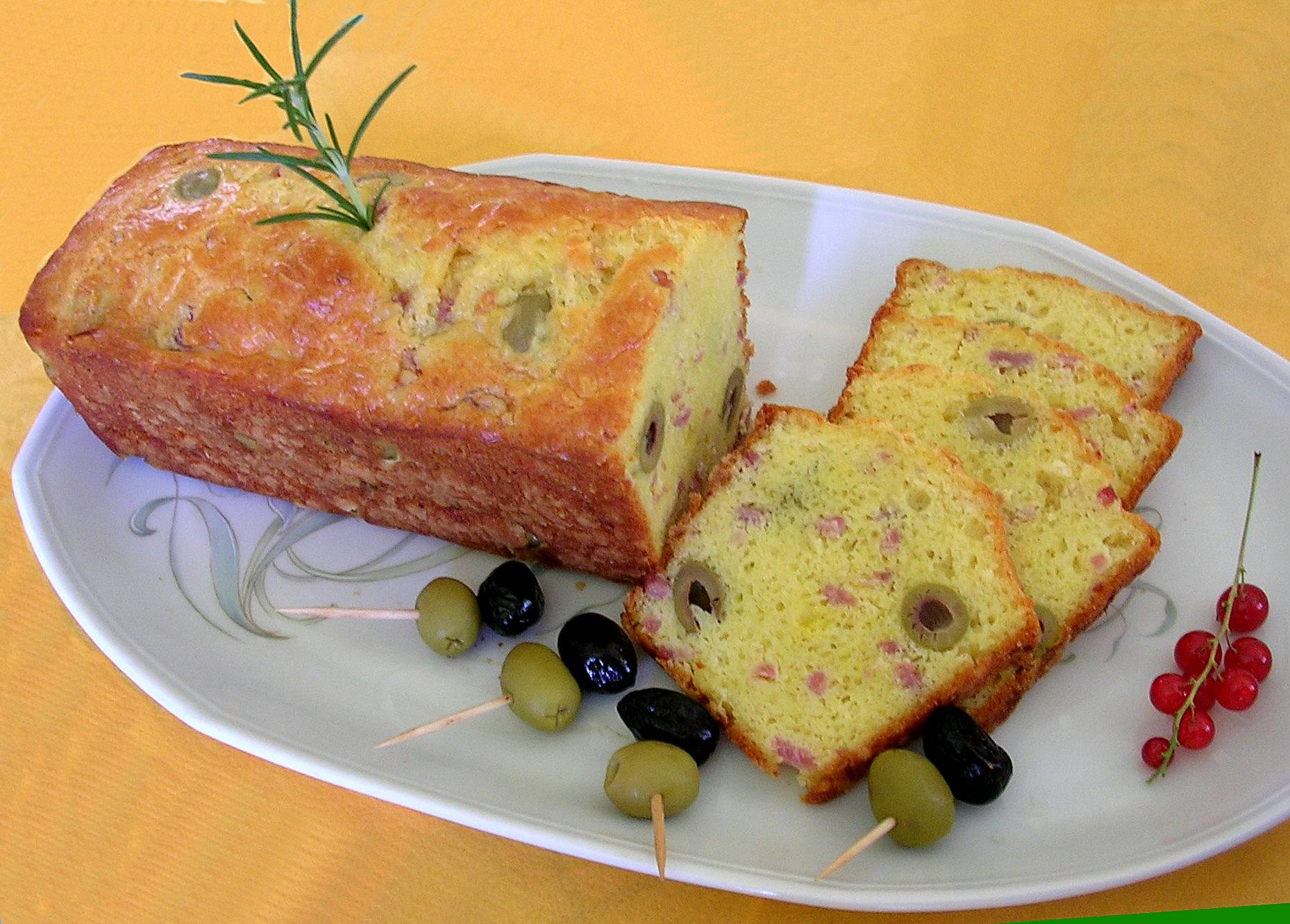 Cake thon lardons