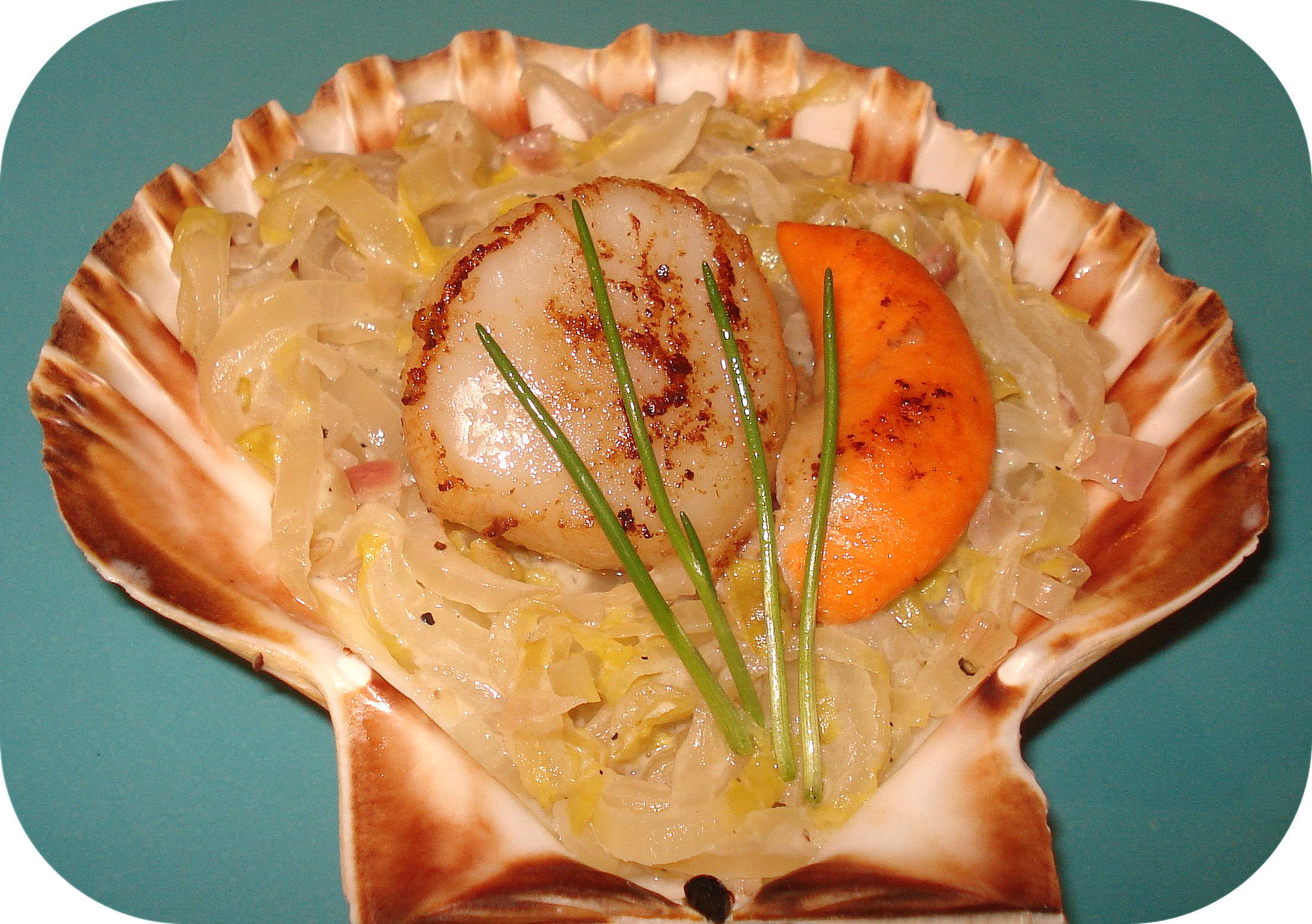 Agréable Cuisine Coquille St Jacques #4: Coquille_St_Jacques_sur_Nid_d_Endives_bis.jpg