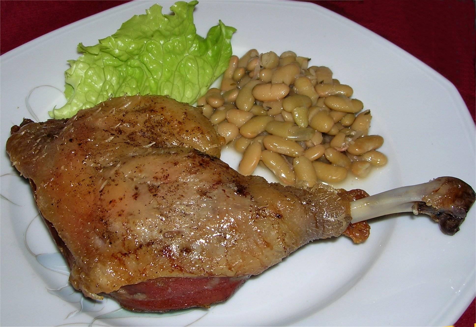 Cuisse de canard au four - Cuisiner cuisse de canard confite ...