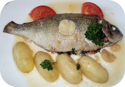 Dorade portion au Vin Blanc
