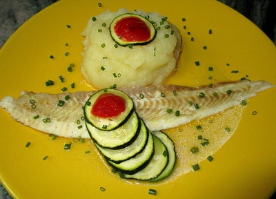 Filet de Sole et Courgette au four