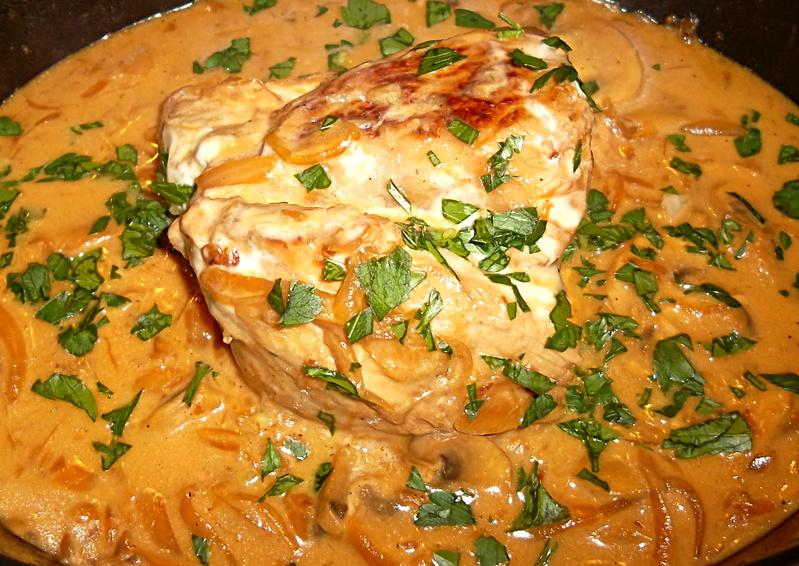 Filet de Veau aux Champignons et Oignons on