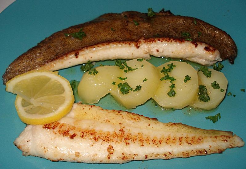 filets de limande sole poelés au beurre