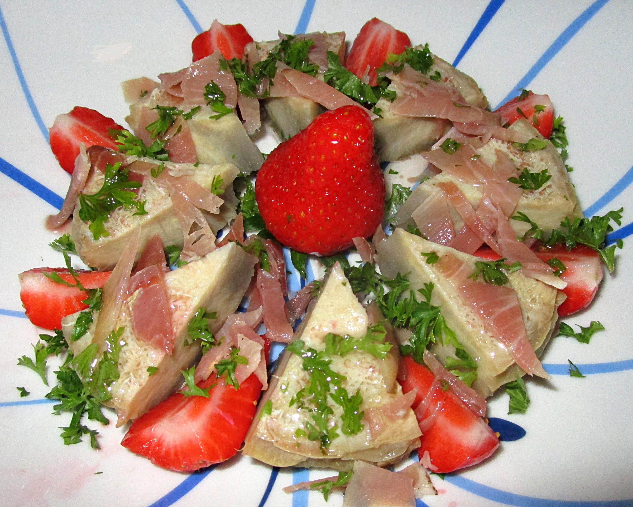salade de fond d 39 artichaut aux fraises. Black Bedroom Furniture Sets. Home Design Ideas