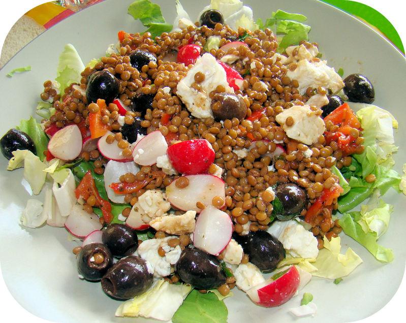 Salade dété aux Lentilles et Féta