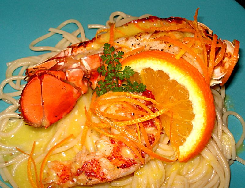 Homard grill l 39 orange - Accompagnement homard grille ...