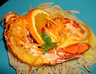 Homard grillé à l'Orange