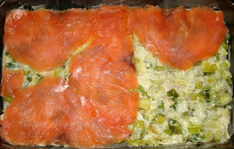 Lasagne De Saumon Fume Au Poireau