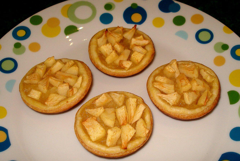 mini tartelettes aux pommes