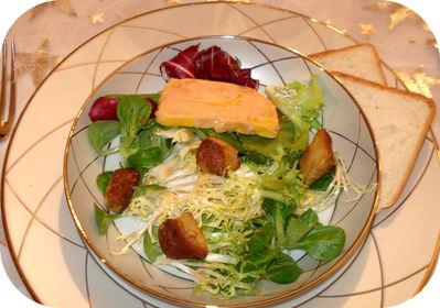 Salade st jacques foie gras for Entree avec du foie gras froid