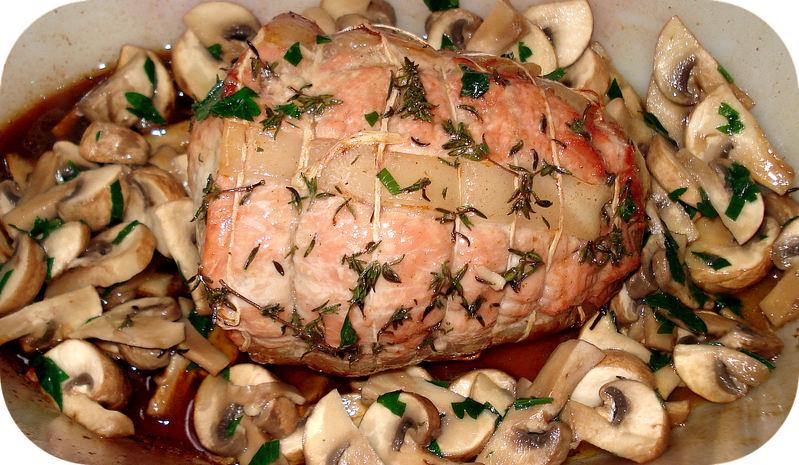 Roti De Veau Aux Champignons