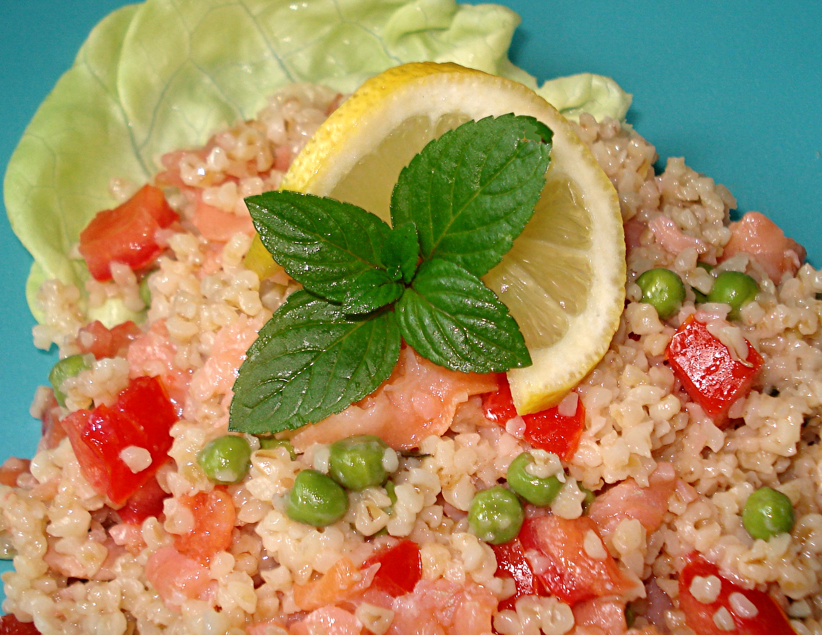 Salade de boulgour au saumon fum for Hors d oeuvre avec saumon fume