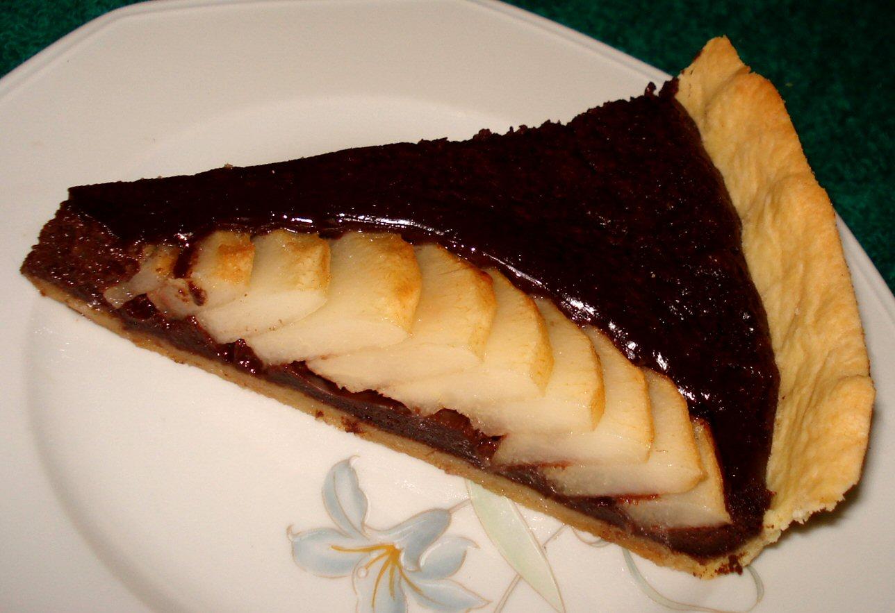 Tarte aux poires et chocolat - Recette tarte aux chocolat ...