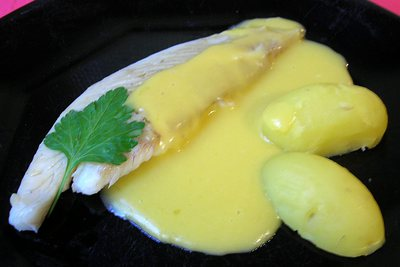 Turbot  sauce hollandaise -- 12/11/04