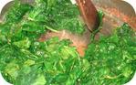 Epinards poêlés