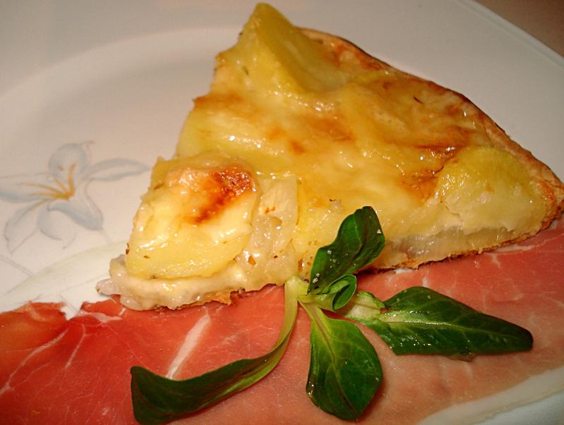 tarte aux maroilles oignons et pommes de terre