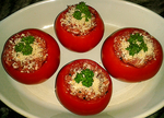 Tomates farcies � la chair de Volaille -- 05/04/14